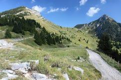Trails around Tremalzo mountain. Biking and hiking trails near to Tremalzo mountain in Italy Stock Photo