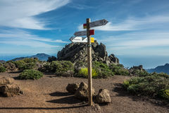 Trails crossing in La Palma Island. Trails crossing in La Palma Royalty Free Stock Photo