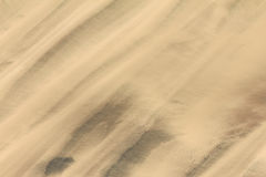 Trails of dust and shifting sand dunes textures Stock Photography