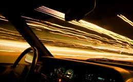 trails för 1 bilchaufförlampa Royaltyfri Bild