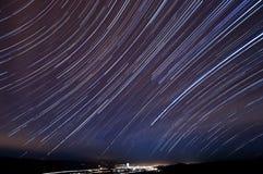 trails för kullmorgan stjärna royaltyfri fotografi
