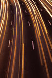 Traffic River. Trails of light is all that remains from the swift highway traffic Royalty Free Stock Photo