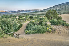 Trails in North Sand Hills Royalty Free Stock Photography