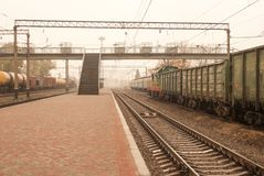 Trails, rails, direct the railways. Railway transportation. Trails, rails, direct the railways. Railway transport. Station Infrastructure stock images