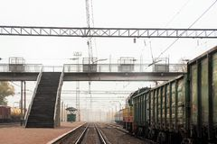 Trails, rails, direct the railways. Railway transportation. Trails, rails, direct the railways royalty free stock images