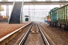 Trails, rails, direct the railways. Railway transportation. Trails, rails, direct the railways stock photo