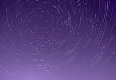 Trails of stars in sky. Trails of stars in night sky Stock Image