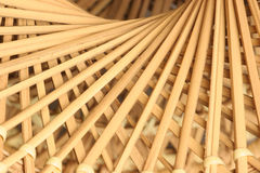 Trails to the center. Close-up of spiral wicker pattern Stock Images