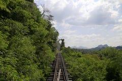 Trailway kanchanaburi för död Royaltyfri Fotografi