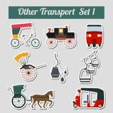 Traims, trolleybuses set_1 Royalty Free Stock Photos