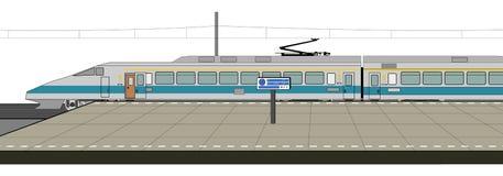 Train à grande vitesse illustration de vecteur