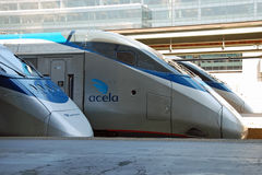 Train à grande vitesse Acela d'Amtrak Photo libre de droits