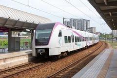Train à grande vitesse chez Kuala Lumpur, Malaisie Image libre de droits