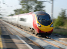 Train à grande vitesse en Europe Image libre de droits