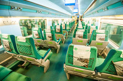 Train à grande vitesse intérieur de KTX Photographie stock
