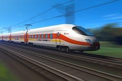 Train à grande vitesse moderne illustration de vecteur