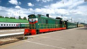 Train à la gare Image libre de droits