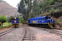 Train à Machu Picchu. Photographie stock libre de droits