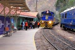 Train à Machu Picchu. Images libres de droits
