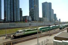 Train à Toronto, Canada Photographie stock