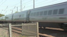Train électrique à grande vitesse banque de vidéos