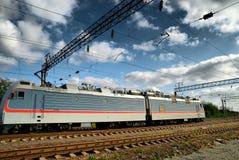 Train électrique et infrastructure électrique Photos libres de droits