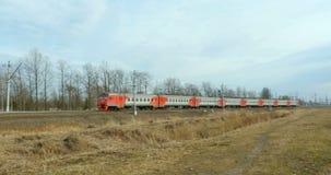 Train électrique suburbain dans le mouvement