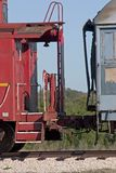 Train 1. Train cars connected royalty free stock photography