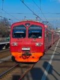 Train. Suburban public passenger electric Train Stock Photo