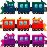 Train. Vector trains over white. EPS 8 Royalty Free Stock Photography