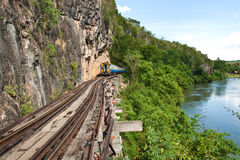 Train. On the death railway in west of thailand Royalty Free Stock Images
