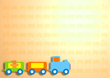 Train. The colored train on background Royalty Free Stock Photography