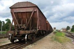 The train. Cargo transportation theme Stock Photos