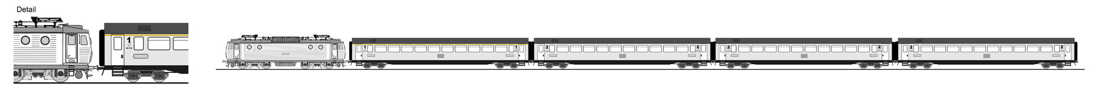 Train illustration de vecteur