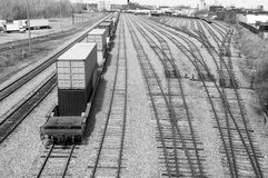 commercial container railway Stock Photography