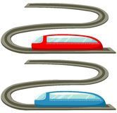 Train. Illustration of isolated train toy on white background Royalty Free Stock Image