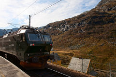 Train. The train travel in the mountains of Norway Stock Images