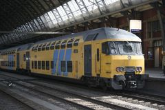 Train. Stand in Amsterdam Central station Royalty Free Stock Photo