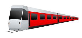 Train. Vector illustration on white background Stock Image