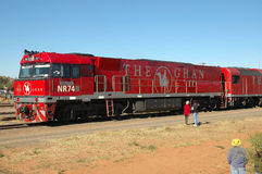 Train. This train is owned by the Great Southern Rail. The Ghan was named after the Afghan Camelle`s, who traversed the harsh desert country of Northern Stock Photography