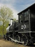 Train #4. An old locomotive on railroad tracks Royalty Free Stock Photography