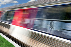 Train. Motion blurred image of a train passing by Royalty Free Stock Photo