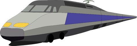 Train. Vector - fast train comes from background Royalty Free Stock Photos