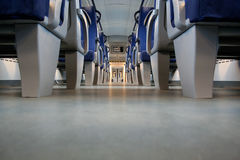 Train. Modern train interior with empty seats Stock Photography