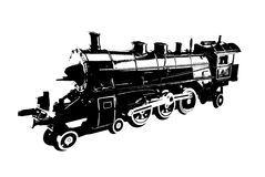 Train. Locomotive isolated on white background Royalty Free Stock Photography
