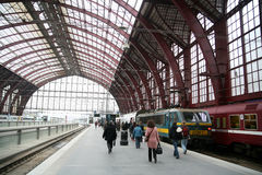 Train. The train station of anvers in belgium royalty free stock images