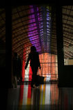 Train. The train station of anvers in belgium, people silhouettes royalty free stock images