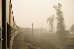 Train. Side view from a train at India Royalty Free Stock Photos