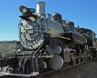 Train #8. An impressive steam engine recalls the glory of our past Stock Image