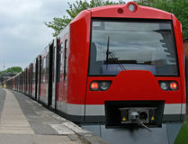 Train. Red suburban railway train stock images